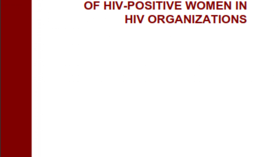 Increasing The Involvement HIV Women